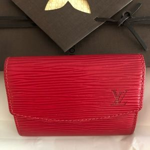 Authentic Louis Vuitton Card Holder in Red